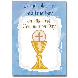 First Holy Communion Cards For Boys