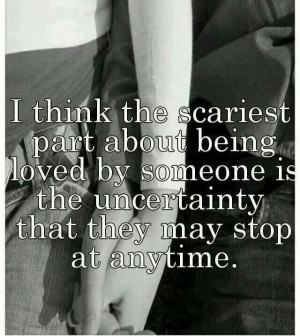 Love is scary...