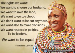 Rebecca Lolosoli Women's quote