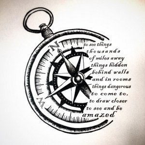 Compass Tattoos With Quotes Compass sketch for tattoo