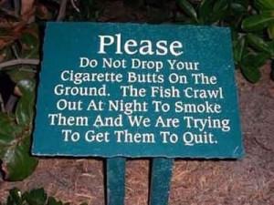 Funny Signs – Smoking Fish