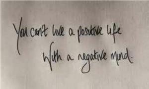 Release negative energy.