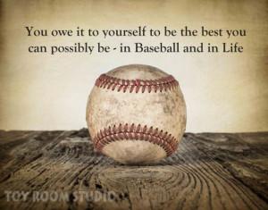 Baseball photo, Vintage style Baseball Photo Print with inspirational ...