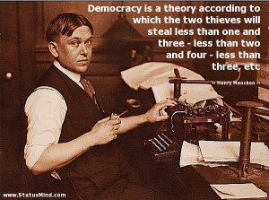 ... four - less than three, etc - Henry Mencken Quotes - StatusMind.com