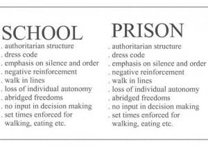 School vs. prison: a comparison