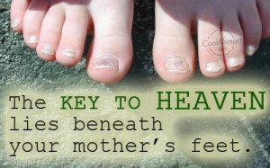 Heaven Quote: The key to heaven lies beneath your... Heaven-(4)