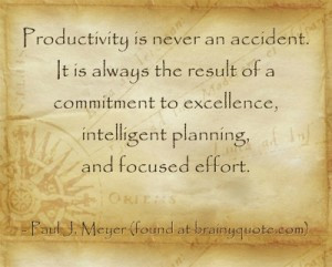 This week's motivation is about planning and productivity in your ...