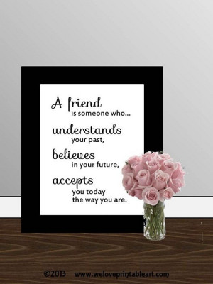 Gift for Best Friend Quote Printable Art Wall Decor, Inspirational ...