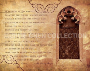 Serenity Prayer - Inspirational Quote - Inspirational Art - Catholic ...
