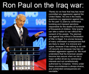 Ron Paul Quotes Freedom Ron paul quote war iraq