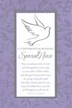 Confirmation Blessing: Special Niece (Purple Border) (Dayspring 6569 ...
