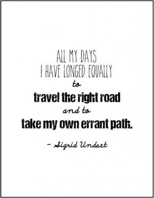 Sigrid Undset literary quote birthday gift by JenniferDareDesigns, $8 ...