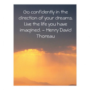 Inspirational Thoreau Quote Full Color Flyer