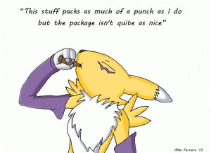 Renamon's Energy drink Quote. by MikeFerreira