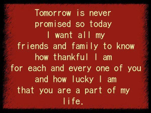 for family and friends quotes | thankful for my family and friends ...