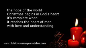 Religious Christmas Card Sayings Quotes