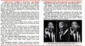 ... 1961 review and collection of dick gregory quotes from jet magazine