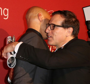John Ridley Writer John Ridley L and director David O Russell attend