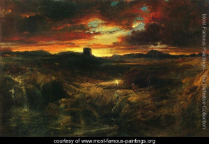 ... to the Dark Tower Came - Thomas Moran - www.most-famous-paintings.org