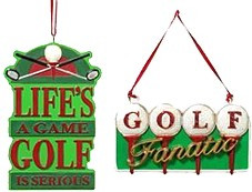Golf Sayings Ornaments Resin 4 $ 50 Each Life S A Game Is