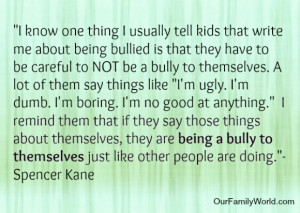 Being a bully to themselves