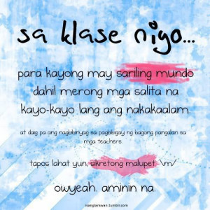 Funny Tagalog Quotes About Friends