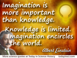 Albert Einstein quote Imagination is more important than knowledge