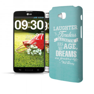 Aqua-Laughter-is-Timeless-Walt-Disney-Quote-Phone-Hard-Shell-Case-for ...