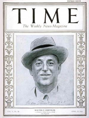 TIME Magazine Cover: Walter P. Chrysler -- Apr. 20, 1925