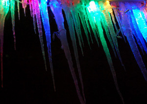 Lighted Icicles Stock