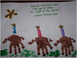Handprint 3 Wise Men - Sunday School Craft for Christmas