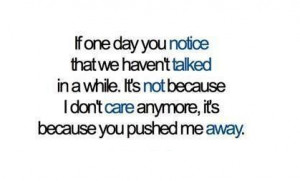 quotes love pushed me away moving on sad