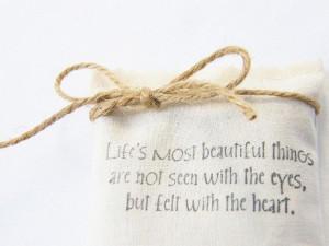 Lavender sachet with a love quote