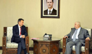 meeting with Syrian Foreign Minister Walid Muallem in Damascus