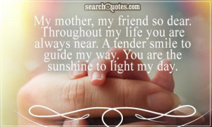 Mother Day Quotes For Friends Good mothers day quotes &