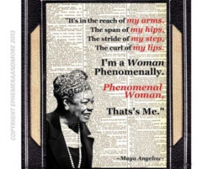 Poem Review : Entry #9 : Phenomenal Woman - Maya Angelou (by Quora ...