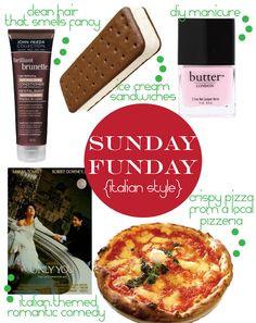 Sunday Funday: Italian Style