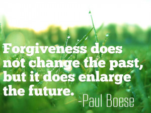 ... not change the past, but it does enlarge the future. Picture Quote #2