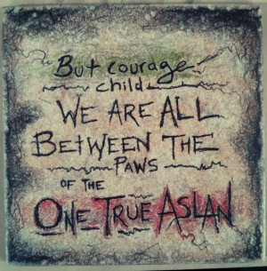 CS Lewis Narnia Quote on 6x6 ceramic tile with by ScribbleSketches, $ ...