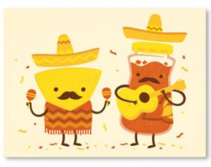 Vintage Cinco de Mayo Wall Art Print, Funny Chips and Salsa Mustache ...