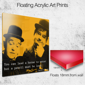 laurel and hardy quote square wall art