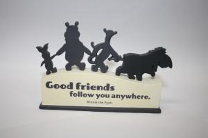 Hallmark Cut-Out Sentiment Plaque - Good friends follow you anywhere ...