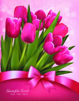 Tulips Happy Birthday Credited
