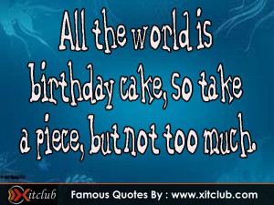 Most Famous Birthday Quotes
