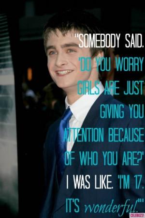 Daniel Radcliffe's Funniest Quotes
