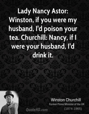 Winston Churchill Husband Quotes
