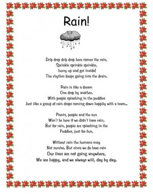 Poem About Rain And Love