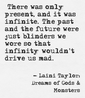 Laini Taylor quote from Dreams of Gods & Monsters. More