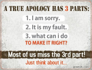 true apology has 3 parts forgiveness quote