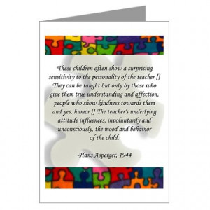 Hans Asperger quote. Oh my, if only teachers would just try to ...